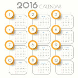 2016 Modern calendar template .Vector/illustration. 2016 Modern calendar template .Vector/illustration Royalty Free Illustration