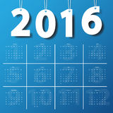 2016 Modern calendar template. Vector illustration Stock Image