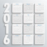 2016 Modern calendar template .Vector/illustration. Royalty Free Stock Images