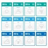 2016 Modern calendar template .Vector/illustration. Stock Images