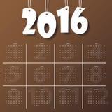 2016 Modern calendar template .Vector/illustration. Royalty Free Stock Image