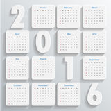 2016 Modern calendar template  Royalty Free Stock Photography