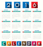 2016 Modern calendar template .Vector/illustration. 2016 Modern calendar template .Vector/illustration stock illustration