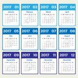 2017 Modern calendar template .Vector/illustration. 2017 Modern calendar template .Vector/illustration vector illustration