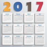 2017 Modern calendar template Stock Photography