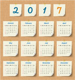 2017 Modern calendar template .Vector/illustration. Stock Images