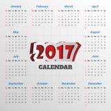 2017 Modern calendar template .Vector/illustration. 2017 Modern calendar template .Vector/illustration Royalty Free Illustration