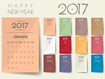 2017 Modern calendar template .Vector/illustration. 2017 Modern calendar template .Vector/illustration stock illustration