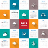 2017 Modern calendar template .Vector/illustration. 2017 Modern calendar template .Vector/illustration Royalty Free Stock Images