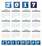 2017 Modern calendar template .Vector/illustration. Royalty Free Stock Photos
