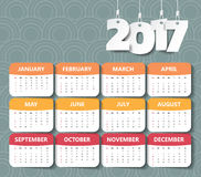 2017 Modern calendar template .Vector/illustration. Royalty Free Stock Image