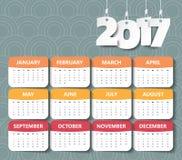 2017 Modern calendar template . Vector/illustration. 2017 Modern calendar template . Vector/illustration Vector Illustration