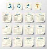 2017 Modern calendar template .Vector/illustration. Royalty Free Stock Photo