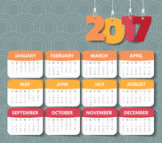 2017 Modern calendar template .Vector/illustration. Stock Photo