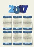 2017 Modern calendar template .Vector/illustration. Stock Image