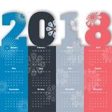 2018 Modern calendar template .Vector/illustration. Royalty Free Stock Photography