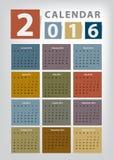 Modern Calendar 2016 Vector Royalty Free Stock Photos