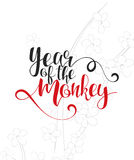 Modern calligraphic design. Chinese New Year. Lettering calligraphy set Royalty Free Stock Images