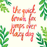 Modern calligraphy brush lettering. card or poster design with unique typography. Hand written calligraphy alphabet. Detail Royalty Free Stock Image