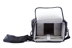 Modern Camera bag on white background. Stock Images