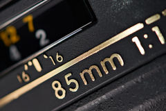 Modern camera lens closeup Royalty Free Stock Photo
