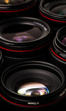 Modern camera lenses with reflections Royalty Free Stock Image