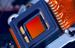 Modern camera matrix macro royalty free stock images