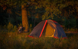 Modern camp tent Royalty Free Stock Images