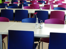 Modern canteen furniture Royalty Free Stock Photo