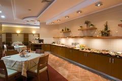 Modern canteen interior stock photos
