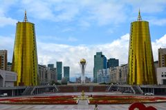 Astana City Centre Kazakhstan royalty free stock photos