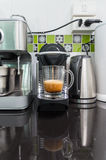 Modern capsule coffee machine Stock Image
