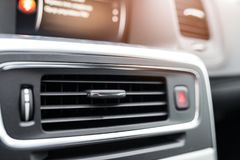 Modern car air condition vents Stock Images