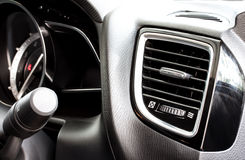 Modern car air conditioning vent Royalty Free Stock Photo