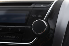 Modern car audio control panel royalty free stock images