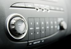 Modern car audio system. Picture of a Modern car audio system stock photo