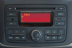 Modern Car Audio System Royalty Free Stock Photography