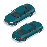 Modern Car. Car icons. Flat 3d isometric vector illustration car icon. High quality city transport. Stock Photo