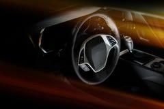 Modern Car Cockpit Stock Photography