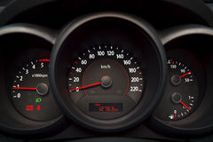 A modern car dashboard. Stock Photo