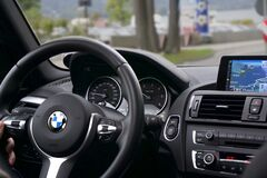 Modern car dashboard royalty free stock photography