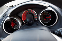 Modern car dashboard Stock Photo