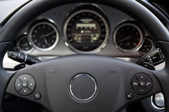 Modern car dashboard Royalty Free Stock Image