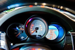 Modern car dashboard closeup Royalty Free Stock Photography