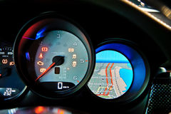 Modern car dashboard closeup Royalty Free Stock Image