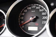 Modern car dashboard closeup Stock Image