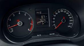 Modern car dashboard display Stock Photo