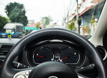 Modern car dashboard Stock Photography