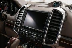 Modern car dashboard. royalty free stock photography