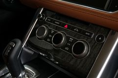 Modern car dashboard. royalty free stock images